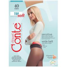 Колготки Conte Top Soft (Конте Топ Софт), Natural (телесный), 40 den, 4 размер