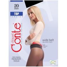 Колготки Conte Top (Конте Топ), Nero (черный), 20 den, 2 размер