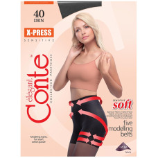 Колготки Conte X-Press (Конте Экспресс), Nero (черный), 40 den, 2 размер