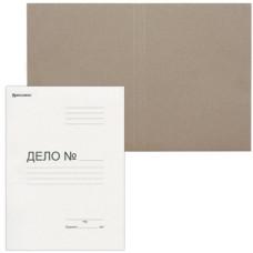Папка ДЕЛО картонная (без скоросшивателя) BRAUBERG, плотность 300 г/м2, до 200 листов