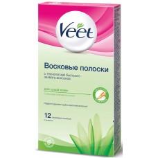 Восковые полоски Veet (Вит) с алоэ вера и ароматом лотоса для сухой кожи, 100 мл