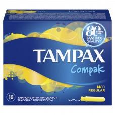 Тампоны Tampax Compak (Тампакс) Regular 2 капли, 16 шт