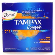 Тампоны Tampax (Тампакс) Compak Super Plus, 4 капли, 16 шт