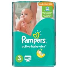 Подгузники Pampers (Памперс) Active Baby Midi 3 (5-9 кг), 82 шт