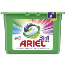Гель для стирки в растворимых капсулах автомат Ariel (Ариэль) Color, 15 шт*27 г