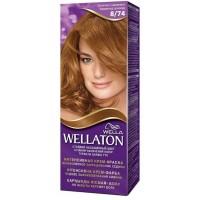 Краска для волос Wellaton (Вэллатон) 8/74 Шоколад с карамелью
