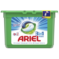 Гель для стирки в растворимых капсулах ARIEL (Ариэль) Touch of Lenor Fresh, 15 шт*28,8 г