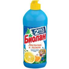 Бальзам для мытья посуды Биолан Апельсин и Лимон, 450 мл