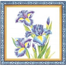 Салфетки сервировочные Fresco (Фреско) Ирисы, 33х33 см, 20 шт