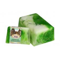Косметическое мыло ручной работы Savon D Lion Зелёный чай и стебель бамбука, 100 г