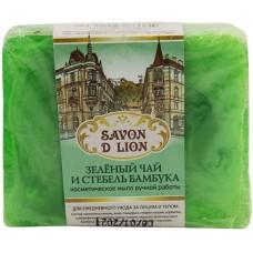 Косметическое мыло ручной работы Savon D Lion «Зелёный чай и стебель бамбука», 100 г