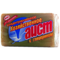 Хозяйственное мыло АИСТ с глицерином Гост 72 %, 150 г