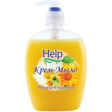 Жидкое крем-мыло Help (Хэлп) Ромашка и календула с дозатором, 500 мл