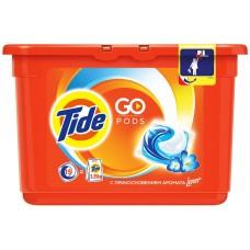 Гель в растворимых капсулах для стирки Tide (Тайд) C прикосновением аромата Lenor, 15×25,2 г