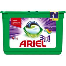 Гель для стирки в растворимых капсулах ARIEL автомат Color & Style, 12 шт*28,8 г