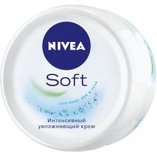 Интенсивный увлажняющий крем NIVEA (Нивея) Soft для лица, рук и тела, (200 мл)