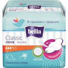 Гигиенические прокладки Bella Nova Classiс Komfort (Белла Нова Классик Комфорт) 3+ капли, 10 шт