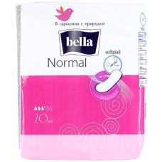 Гигиенические прокладки Bella Normal (Белла Нормал) 3 капли, 20 шт