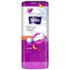 Гигиенические прокладки Bella (Белла) Nova Maxi, 5+ капель, 10 шт