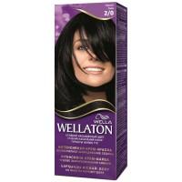 Краска для волос Wellaton (Вэллатон) 2/0 Черный