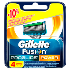 Кассеты для бритья Gillette Fusion ProGlide Power (4 шт)