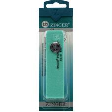 Бафик шлифующий для ногтей Zinger (Зингер), цвет зелёный, zo EK-111-120