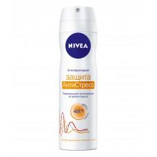 Дезодорант-антиперспирант женский Nivea (Нивея) спрей Защита АнтиСтресс, 150 мл