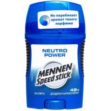 Дезодорант-антиперспирант стик мужской Mennen Speed Stick Neutro Power, 50 г