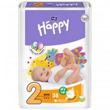 Подгузники HAPPY (Хэппи) Mini 2 (3-6 кг) 38 шт