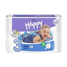 Подгузники HAPPY (Хэппи) Midi 3 (5-9 кг) 13 шт