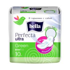 Гигиенические прокладки Bella Perfecta Ultra Green (Белла Перфекта Ультра Грин) 4 капли, 10 шт