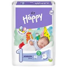 Подгузники Happy (Хэппи) Newborn 1 (2-5 кг), 42 шт