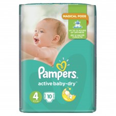 Подгузники Pampers (Памперс) Active Baby Maxi 4 (7-14 кг) 10 шт