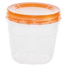 Банка для сыпучих продуктов пластмассовая 0,7 л, д 12,5 см, h 8,5 см, закручивающаяся крышка