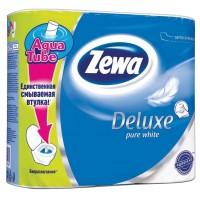 Туалетная бумага Zewa Deluxe (Зева Делюкс) белая 3-х слойная 4 рулона