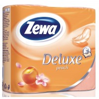 Туалетная бумага Zewa Deluxe (Зева Делюкс) Персик 3-х слойная 4 рулона