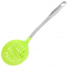 Шумовка пластиковая для тефлоновой посуды Оливия, нержавеющая ручка с пластиковой вставкой, 38 см