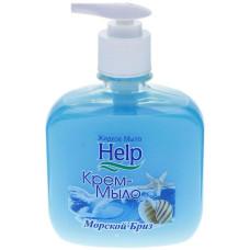 Жидкое крем-мыло Help (Хэлп) Морской бриз с дозатором, 300 мл