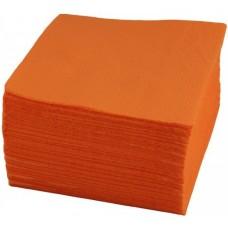 Салфетки бумажные однослойные Antella (Антелла) Оранжевые, 24х24 см, 100 штук