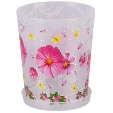 Горшок для орхидеи пластмассовый Камилла, прозрачный, 1,2 л, д12,5 см, h14,5 см