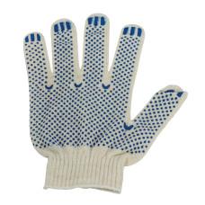 Перчатки рабочие х/б с ПВХ покрытием Точка, 10 класс вязки, 4-х нитка