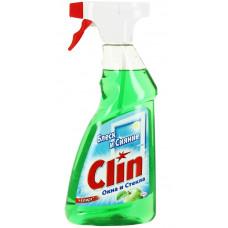 Средство для мытья окон и стекол Clin (Клин) Яблоко, курок, 500 мл