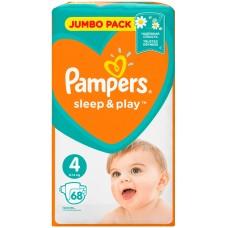 Подгузники Pampers (Памперс) Sleep&Play Maxi 4 (9-14 кг), 68 шт