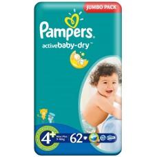 Подгузники Pampers (Памперс) Active Baby Maxi Plus 4 (9-16 кг) 62 шт