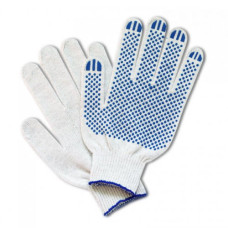 Перчатки рабочие х/б с ПВХ покрытием Точка, 10 класс вязки, 5-ти нитка