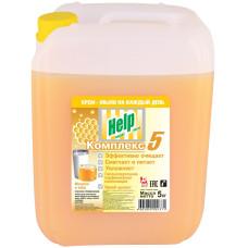 Жидкое крем-мыло Help (Хелп) Молоко и Мед, 5 л