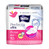 Гигиенические прокладки Bella (Белла) Perfecta Ultra Rose, 4+ капли, 10 шт