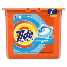 Гель в растворимых капсулах для стирки Tide (Тайд) C прикосновением аромата Lenor, 23×25,2 г