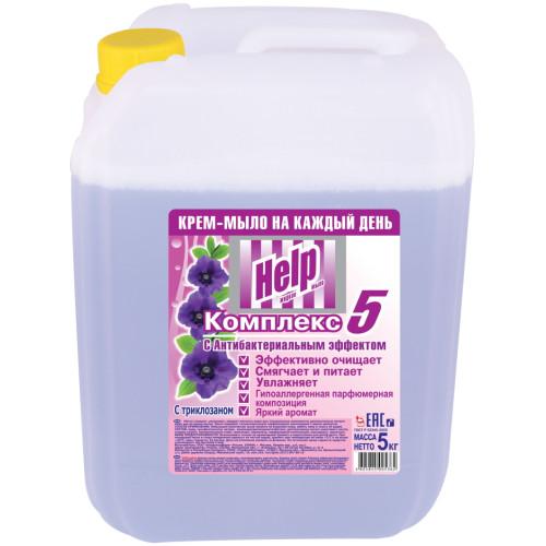 Жидкое крем-мыло Help (Хэлп) с Антибактериальным эффектом, 5 л
