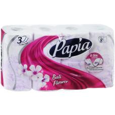 Туалетная бумага Papia 3-х слойная Bali Flower (Балийский цветок)